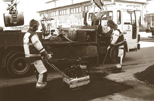 Bild 12:22 Pågående asfaltlagning