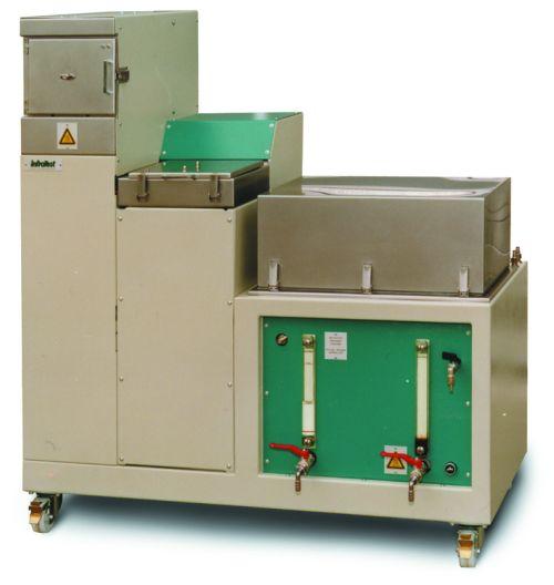 Bild 17:05 Bindemedelshaltsbestämning vid extraktion med lösningsmedel och ultraljud (Infratest)
